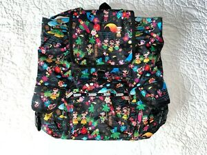LESPORTSAC x Disney It's a Small World Polynesian Paradise Voyager Backpack NWOT