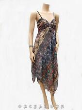 Robe Tunique T UNIQUE = 36 38 40 42 44 M L XL Asymétriq collier Fête NEUF Dress