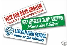 50 Full Color Custom Printed Bumper Stickers