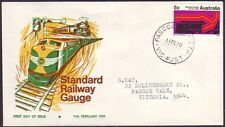 """VICTORIA POSTMARK """"PASCOE VALE STH"""" ON 1970 5c RAILWAY FIRST DAY COVER RATED RRR"""