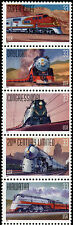 1999 33c All Aboard, Trains Strip of 5 Scott 3333-37 Mint F/VF NH