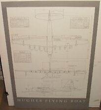 HUGHES FLYING BOAT LARGE 1983 INFORMATION CHART POSTER