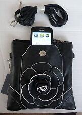 Negro de Moda Bolso de Hombro con Compartimento de teléfono móvil