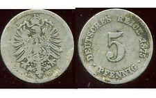 ALLEMAGNE 5  pfennig   1875 C