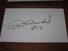 Don Koharski Autographed 3X5 Index Card-Referee-Official