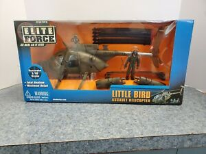 1:18 BBI Elite Force U.S Army MH-6 Little Bird Recon Attack Military Helicopter