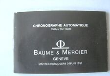 MANUAL MANUELLE INSTRUCTION BOOK PAPERS WATCH BAUME MERCIER CHRONO AUTOMATIC