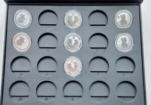 Australien Koala 7 x 1 oz Silber versch. Jg. tlws. Privy Mark + Sammlerbox