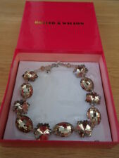 QVC Butler & Wilson Smoky Crystal Chunky Statement Necklace - New