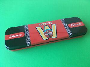 1995 COCA-COLA TIN PENCIL CASE PENCIL BOX MICHEL OKS NEW