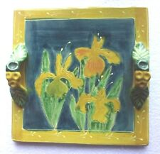 Beautiful Majolica Iris Tray  - Dolce Vita by Giani for Ambiance