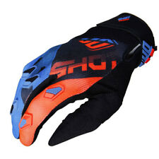 Shot Devo Ultimate Motocross Blue / Neon Yellow Youth Gloves - 12 / 13 Year Old
