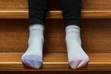 ECO FRIENDLY BAMBOO GIRLS SOCKS - 8 TO 12 YEARS OLD - BUY FOUR PAIR PLUS FREE PO