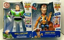 """Toy Story 4 ~ Woody & Buzz Lightyear ~ 13"""" ~ Talking Action Figures ~ Brand New"""