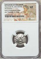 Alexander III the Great 336-323 BC AR Drachm NGC VF (03025)