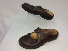 Women FINN Comfort  Leather Mary Jane Slip-On Shoes Mule 40D 8 US