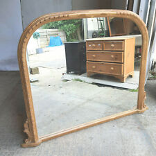 More details for antique,repro,walnut,large,dome top,overmantle,mirror,116cm h x151cm w,carved