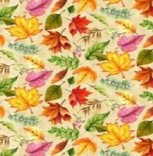 Happy Gatherings Tossed Leaves Cotton Print by Wilmington Prints Bty