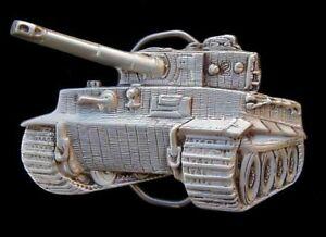 3D TIGER TANK BELT BUCKLE FINE PEWTER NEW!