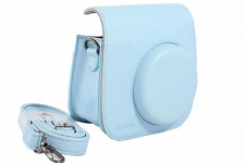 Abesons Leather Case Blue + Strap for Fujifilm instax Mini 8 Instant Cameras