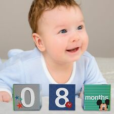 Disney Mickey Mouse Milestone Photo Sharing Age Blocks, Baby Boys, Age 0-24M