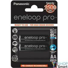 2 PANASONIC ENELOOP PRO RECHARGEABLE AA HR6 BATTERIES BLISTER 1.2V 2500mAh NEW