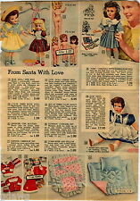 1951 ADVERTISEMENT Doll Pam Human Hair Fur Wig Saran Plastic Vinyl Glassene Eyes
