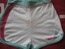 NEW GIRL'S CLOTHES MISS FIORI SHORTS TURQ JADE CERISE WHITE SHORTS AGE 13 YEARS