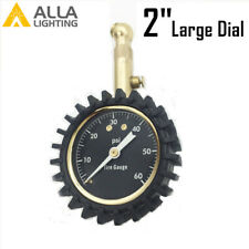 Alla USA Auto Tire Pressure Meter,Heavy Duty 60 PSI Copper Tire Pressure Gauge