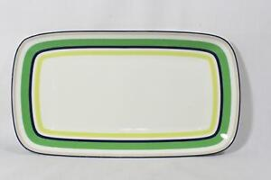 "Kate Spade Lenox Wickford Cafe Stripe Green Hors D'Oeuvres Tray 13 1/4""  New"