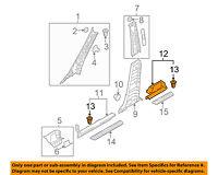 Rear Left Genuine Hyundai 85850-2E300-QS Pillar Trim Assembly