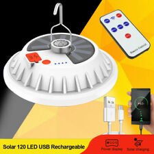 Solar Powered 120 Led String Light Garden Yard Lamp Rechargeable Outdoor Lantern
