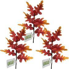 Set di 3 ARTIFICIALI autunno OAK TREE NEBULIZZAZIONI SU PIANTE / STELI-TESSUTO AUTUNNO FOGLIE