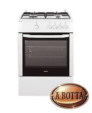 Cucina a Gas con 4 Fuochi BEKO CSG62000DW Bianco Forno Gas 60 cm Fornello Grill