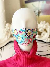 Stoffmaske, Behelfsmaske, Mundschutz, Türkis, für Erwachsene