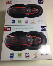 "Dual Electronics DLS694 6"" Car Speakers 200-Watts (Four Speakers)"
