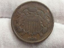 Civil WAR ERA 1865 2 Cent Piece. #10