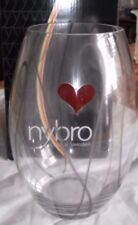 Nybro Crystal Life Vase, Maria Pettersson, Sweden, 200 mm, Red Heart, IOB