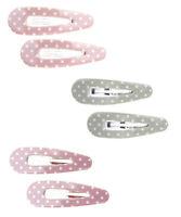 Ella Jonte 2 Haarspangen rosa pink o. grün Punkte Retro Rockabilly Haarklammern