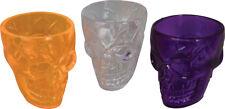 Skull Shot Glasses X3pck Skeletal Head Skeleton Halloween Pirate Fancy Dress
