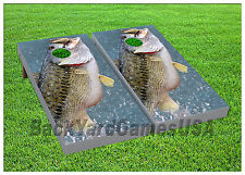 VINYL WRAPS Bass Fishing Sport Cornhole Boards DECALS Bag Toss Game Stickers 72