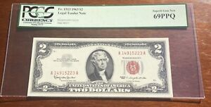 FR 1513 1963 $2 Legal Tender USN Red Seal PCGS 69 PPQ Superb Gem UNC
