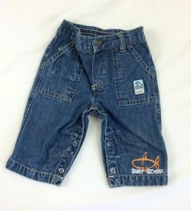 Carters Baby Infant Boys Denim Jeans SURF SCHOOL Size 3 Months