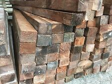"""RECLAIMED TIMBER DIPPED 4""""x3"""" 6ft & 7ft POSTS WOOD BEARERS FENCE RAILS JOIST"""
