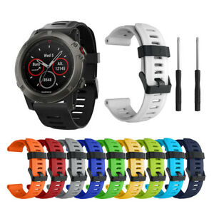For Garmin Fenix 6X 6X Pro Silicone Fitness Replacement Wrist Band Strap