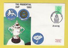CRICKET - STAMP COVER - PRUDENTIAL CUP -  ENGLAND  V  SRI  LANKA  -  1983