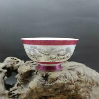 Chinese Porcelain Floating Flowers Three Colour Hills and Waters Landscape Bowl