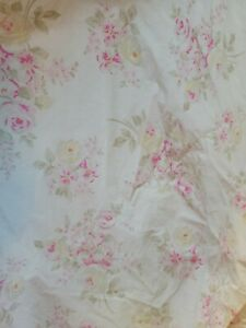 Simply Shabby Chic Shower Curtain Floral Rose Pink Beauty 100% Cotton AS IS