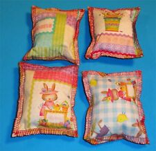Cat Catnip Pillow Toy - Hand Made Jellybean Bunny Patterns Rectangle - 4 ea