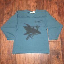 Worcester Jr. Sharks Teal Practice Hockey Jersey #8 Kamazu Size Youth SM/Med